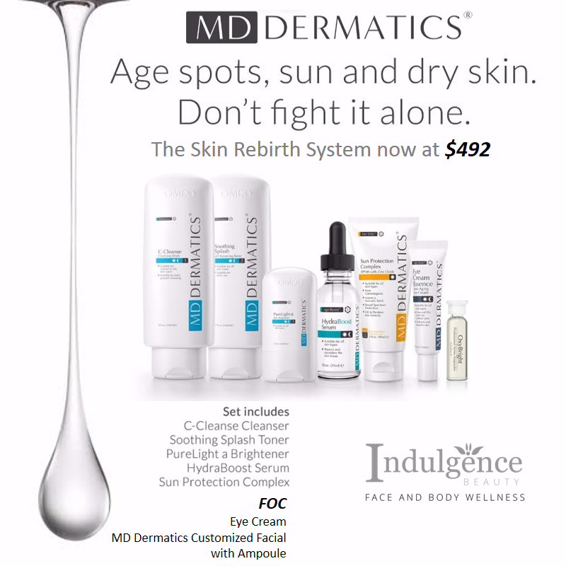 Indulgence Beauty MD Dermatics Skin Rebirth System Oxy Bright Ampoule