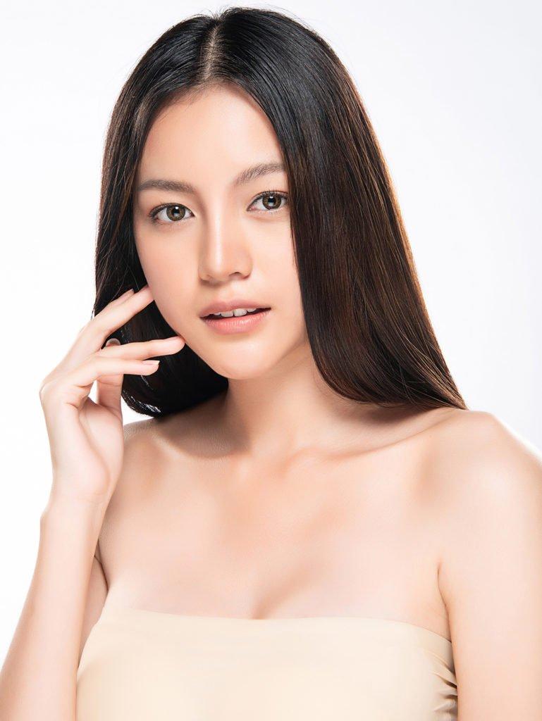 beautiful lady facial skin