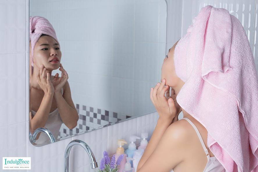 skin check - acne facial treatment