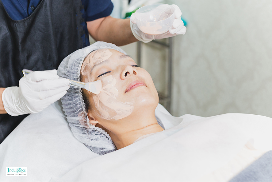 getting a facial treatment in singapore