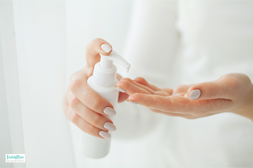 A Woman Doing An Anti-Ageing Skincare